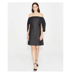 NWT Halston Heritage Metallic Little Black Dress